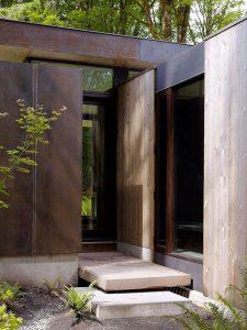 entrada de casa minimalista