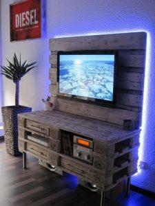 centro entretenimiento palets de madera