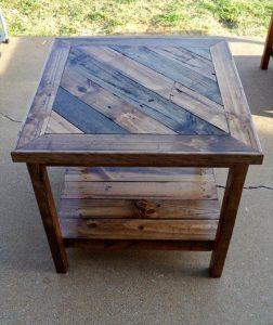 mesa de palets de madera