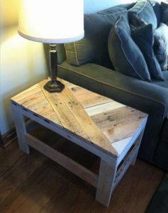 mesa de tarimas de madera
